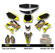 Lucas oils Neon Yellow Honda 09 - 12 CRF450 10 -13 CRF250 Graphics Kit Enjoy MFG