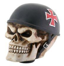 NEW! Skull Skeleton Shift Shifter Knob Iron Cross Biker Car Auto Resin 8236