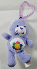 Burger King Kids Care Bears - Purple Harmony Bear Clip-On Plush - OOP - 2005