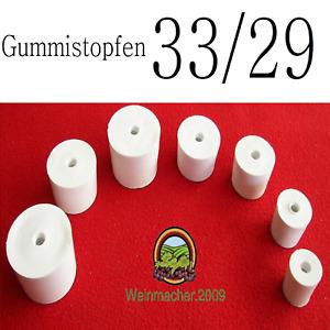 Gummistopfen 33/29 für Gärröhrchen aus Glas und PVC für Flaschen und Weinballon
