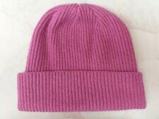 Made in Scotland Beautiful      Cashmere BEANIE HAT Pink