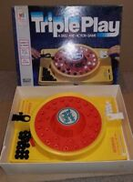 Triple Play A Skill & Action Game 100% Counted Complete Milton Bradley 1978