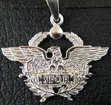 SPQR Roman Legion Eagle solid sterling pendant