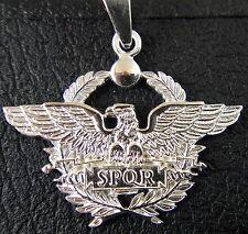 SPQR Roman Legion Eagle solid sterling pendant