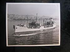 Vintage Us Navy 8 x 10 Press Photo Uss Manatee Ao-58 Long Beach Fleeet 117