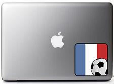 "French Flag Soccer Fan Full Color - Vinyl Decal for 13"" Macbook"