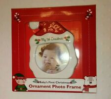 Baby's First Christmas Ornament Photo Frame Holds 5x5cm Photo