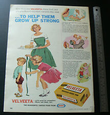 1962 vintage ad KRAFT Velveeta cheese food mag advertisement advertising retro