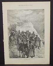 Illustrated London News Single-Page A3#39 Feb. 1888 Russian Army-Crossing a Pass