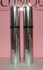 2 x Clinique HIGH IMPACT EXTREME VOLUME MASCARA ~ 01 Extreme Black ~ Lot of 2 FS