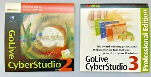 GoLive CyberStudio 2 and 3 for Power Macintosh full-versions with serial nos