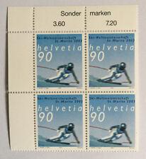 4 timbres suisses YT CH1741, Zum CH1068 se tenant neufs**