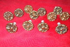 "12 Vintage Amerock Copper 1 1/4"" Floral Knob RDCA 1960"