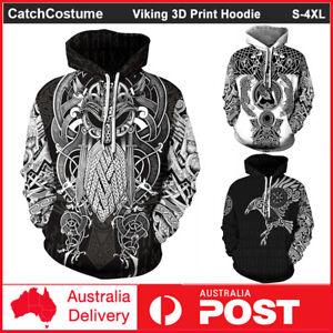 Viking Tattoo 3D Print Hoodie Pullover Sweatshirt Jumper Long Sleeve Coat Unisex
