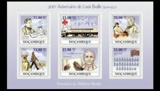 Mozambique 2009 MNH SS, 200th Ann. of Louis Braille, Dogs Physically Disabled