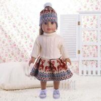 For 18 Inches American Girl Our Generation Doll Sweater Dresses Hat Cloth Dlxq