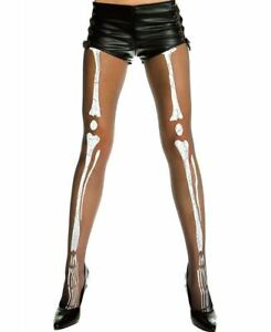 Sheer Pantyhose With Skeleton Print - Music Legs 647