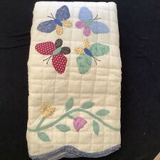 Handcrafted Butterfly Quilt with 2 Shams Full/Queen