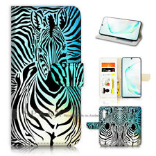 ( For Samsung Note 10 ) Wallet Flip Case Cover AJ40124 Zebra