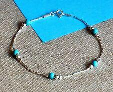 Plata esterlina 925 Azul Turquesa Pulsera vacaciones debe tener