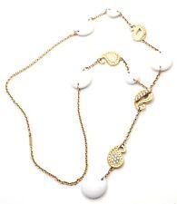 New! Authentic Carrera Y Carrera Aqua 18k Yellow Gold Diamond/Kogolong Necklace
