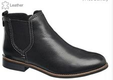 Ladies 5th Avenue Leather Chelsea Boots Size UK 7/EU 41