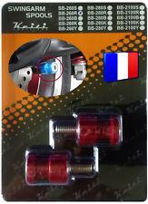 2 Diabolos anodisés Rouges pour béquille stand atelier Yamaha Aprilia Triumph