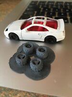 1/64 hot wheels scale Dirt tyres 3d printed Gaslands rally JDM tuner wheels