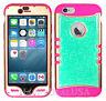 For Apple iPhone 6 & 6S KoolKase Hybrid Cover Case - Crystal Glitter Blue 06