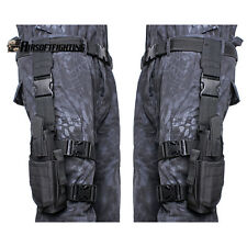 Right+Left Hand Adjustable Tactical Pistol/Gun Drop Leg Holster for 1911 45 92/6