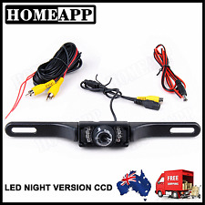 Adjustable Car REVERSE CAMERA License Plate for GPS DVD CCD LED night version AU