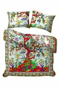 Indian Mandala White Tree of life Duvet Cover Twin/Queen size Blanket Comforter