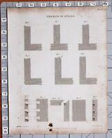 1823 Stampa Architettura Incorniciatura Di Angoli Esempi