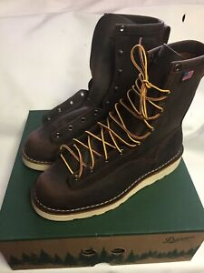 "Danner Boots Men's 8"" Bull Run Round Toe Brown 15556 Sizes 9-13, D &  EE"