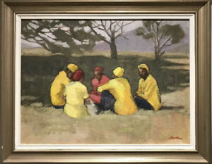 Diana Van Maasdyk - South African School Impressionist Oil - Waiters Off Duty