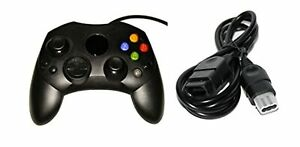 Black Controller And Extension Cable For Xbox Original  Xbox Original