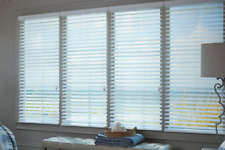 "Levolor 1"" Real Wood Blinds 11002321 ""Almost White"" Width: 28"" Length: 70"""