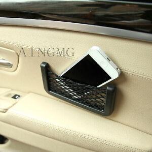 Car Seat Site Storage Net Resilient String Bag GPS Phone Holder Pocket Organizer