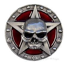 Buckle Gothique Pentagramme Baphomet Tête De Mort Heavy Metal Boucle De Ceinture