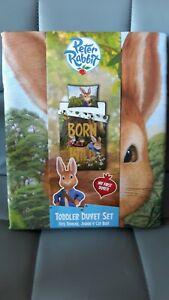 Peter Rabbit Reversible Toddler Bed/Junior Cot Bed Duvet Set Brand New & Sealed