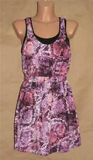 Guess Multi-Color Pink Black Polyester Knee-Length Sleeveless Tank Dress-Size S