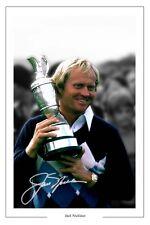 Jack Nicklaus Open Golf Autógrafo Foto firmada impresión