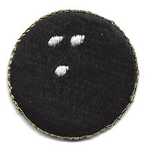 """Bowling Ball Small (1 1/4"""") Games  Iron On Embroidered Patch"""