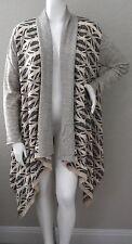 Umgee USA Draped Waterfall Open Cardigan Sweater Heather Grey Plus XL 1XL - New!