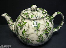 Heron Cross Pottery Lily Of The Valley Chintz 6-8 Cup English Tea Pot