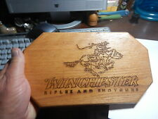 Oak Wood Winchester Rifles and Shotguns cowboy wood carved sign store display it