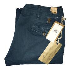RRL Ralph Lauren Azul De Servicio Oficial Chino Pantalones $220 W33 L34 BNWT
