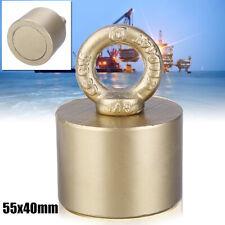 D55mm 200KG Gold Neodymium Fishing Salvage Magnet Detecting Treasure Hunt Strong