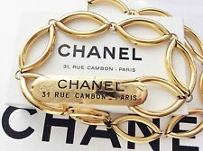 CHANEL rue cambon paris plate buckle charm chain belt vintage FREE SHIPPING