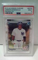 2020 Bowman Chrome #BCP8 Jasson Dominguez RC Rookie New York Yankees Mint PSA 9